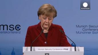 Меркель за безопасность в Европе вместе с Россией, а не против России. Видео