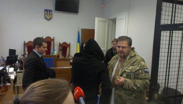 Руслан Коцаба в зале суда