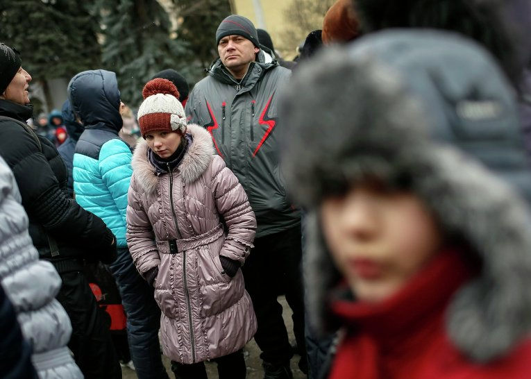 Гуманитарная помощь для переселенцев в Славянске