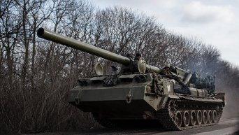 Техника украинских военных близ Дебальцево
