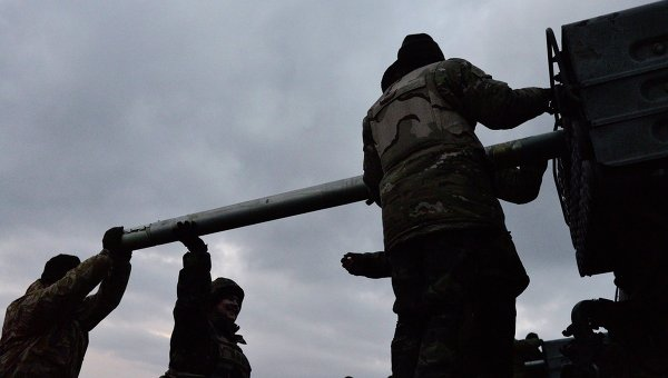 РСЗО Град украинских военных