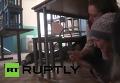 В Первомайске под обстрел попала столовая с сотрудниками. Видео