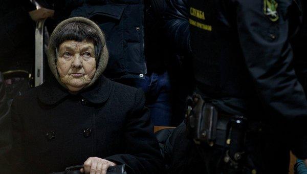 Мать Надежды Савченко, Мария, на заседании суда