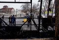Разрушенная автостанция в Донецке