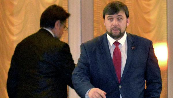 Денис Пушилин на встрече контактной группы по Украине в Минске