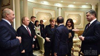 Переговоры лидеров Украины, Германии, Франции и России в Минске