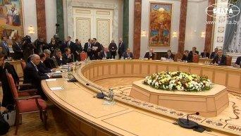 Переговоры в Минске. Видео