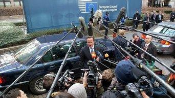 Дэвид Кэмерон на саммите ЕС в Брюсселе