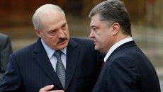 Президент Украины Петр Порошенко и президент Белоруссии Александр Лукашенко. Архивное фото