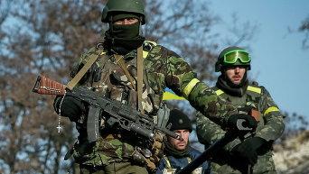 Украинские военные близ Дебальцево