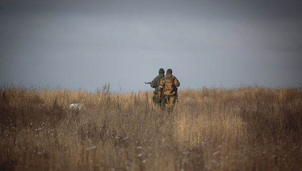 Ополченцы в Донецкой области. Архивное фото
