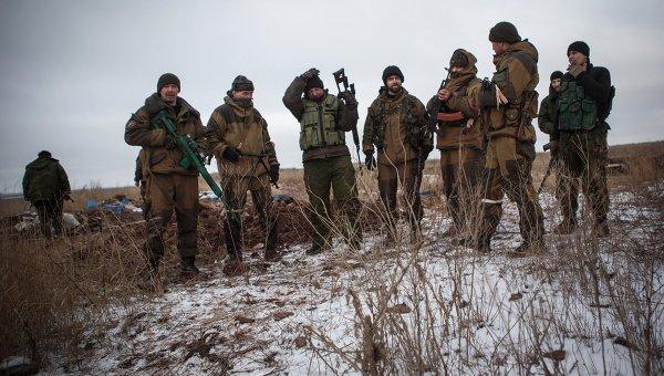 Ополченцы в Донецкой области