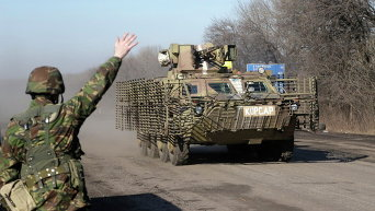 Украинские силовики близ Дебальцево