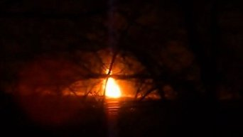 Пожар газопровода в Новотошковке
