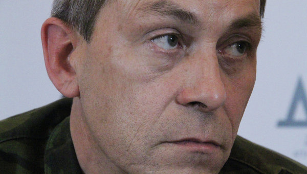 Заместитель командира ополчения Донецкой народной республики (ДНР) Эдуард Басурин
