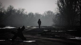 Ополченец в Донецкой области