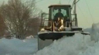 Уборка снега в Массачусетсе