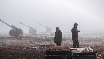 Ополченцы в окрестностях Дебальцево
