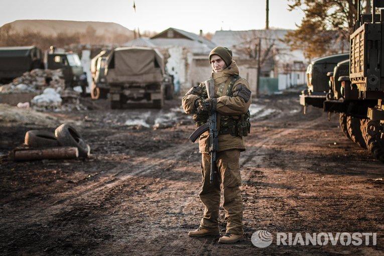 Ополченец в окрестностях Дебальцево