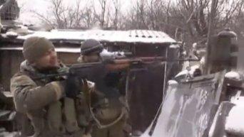 Бои в районе Дебальцево. Видео