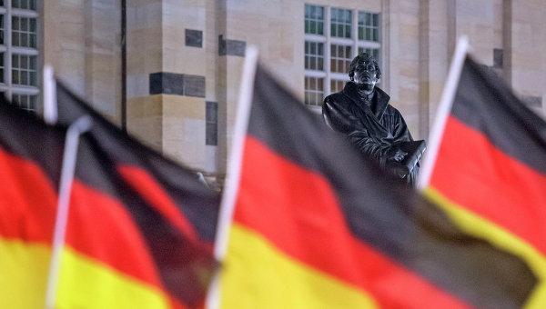 Флаги Германии. Архивное фото