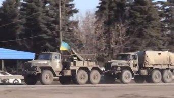 Эвакуация ВСУ из Дебальцево в Артемовск. Видео
