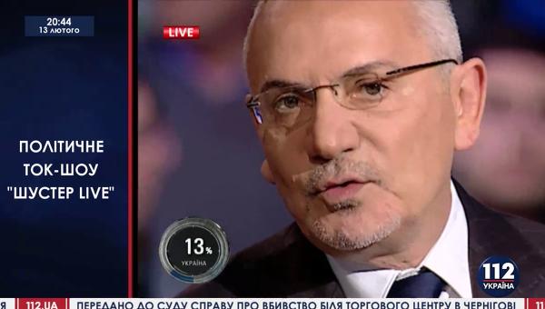 Стоп-кадр во время трансляции ток-шоу на телеканале 112 Украина