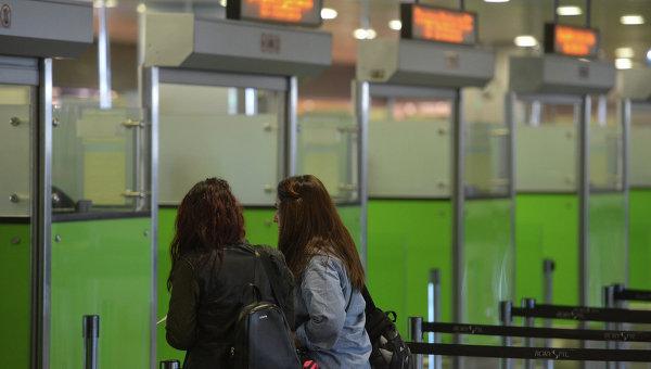 Пассажиры в аэропорту Борисполь
