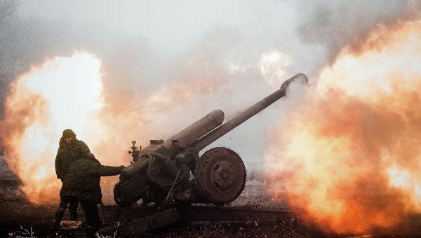 Ополчение ДНР в окрестностях Дебальцево