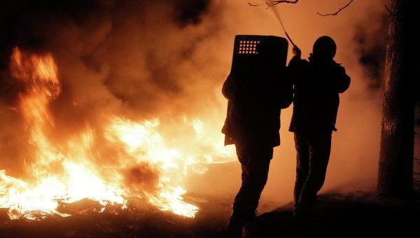 Во время столкновений на Майдане Незалежности 20 февраля 2014 года