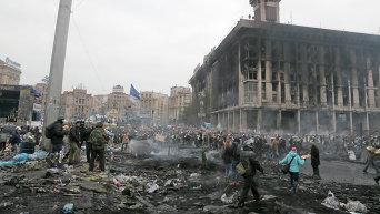 Столкновения на Майдане Незалежности. Архивное фото