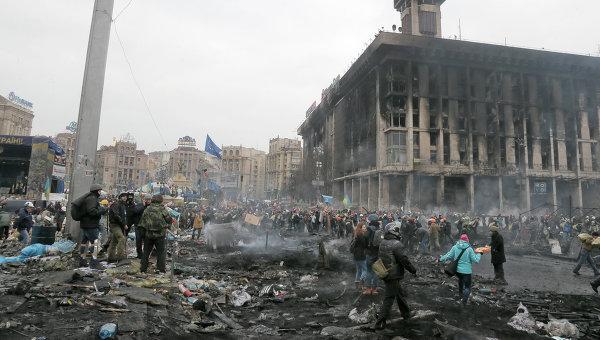 Столкновения на Майдане Незалежности 20.02.2014. Архивное фото