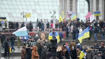 Активисты Евромайдана. Архивное фото