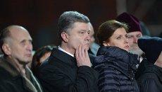 Петр Порошенко с женой почтили память героев Небесной сотни