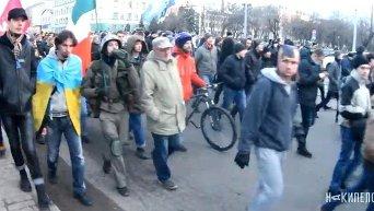 Митинг в Харькове. Видео