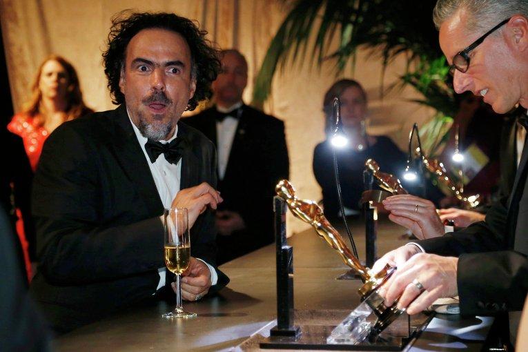 Алехандро Гонсалес Иньяриту за кулисами премии Оскар, 22 февраля 2015