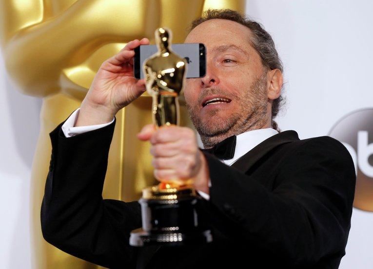 Эммануэль Любецки за кулисами премии Оскар, 22 февраля 2015