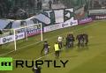В Афинах болельщики попытались напасть на игроков Олимпиакоса. Видео