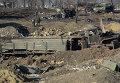 Разрушенный укрепрайон украинских военных на окраине города Дебальцево