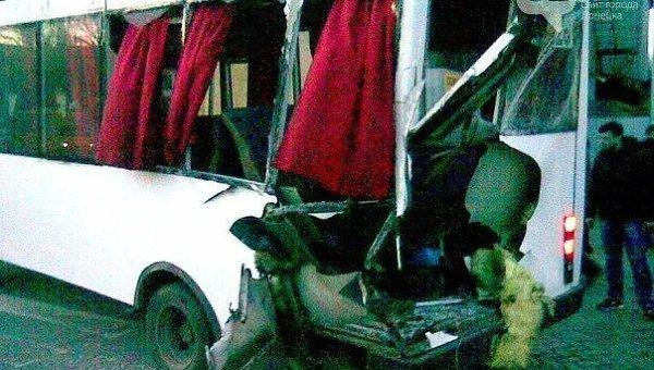 Авария в Донецке с участием машины ДНР