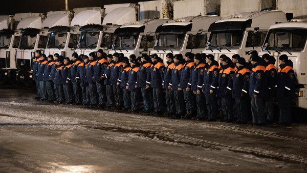Отправка российского гуманитарного конвоя для Донбасса. Архивное фото