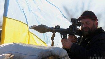 Блокпост ВСУ в Луганской области