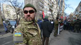 Марш Правого сектора в Киеве. Архивное фото