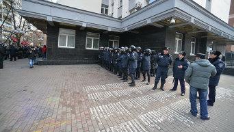 Милиция под зданием Генпрокуратуры. Архивное фото