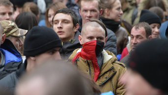 Марш правды в Киеве, организованный Правым сектором