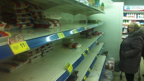 Покупательский бум в магазинах Ильичевска