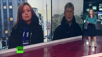 Задержание российских журналистов в Киеве. Видео