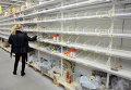 Ажиотаж в продуктовых магазинах. Архивное фото