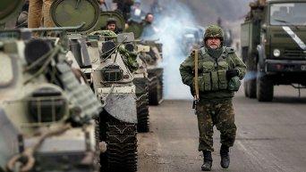 Украинские военные близ Артемовска