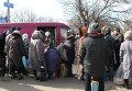 Раздача гуманитарной помощи жителям города Дебельцево